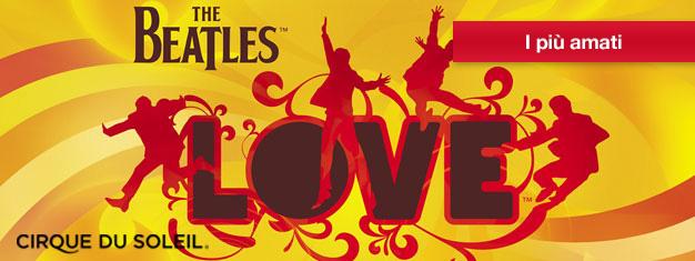 LOVE alThe Mirage di Las Vegas celebra l'eredità musicale del gruppo rock più amato: IBeatles.Prenota i biglietti per LOVE qui!