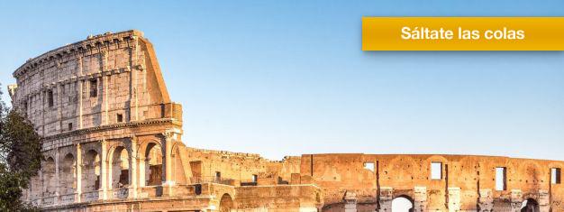 Salta las filas al Coliseo! Recoge tus entradas de antemano y explora el Coliseo, el Foro Romano y lel Monte Palatino por tu propia cuenta. Reserva entradas en línea!