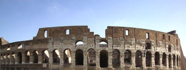Vår kombinerade 2-i-1 tur börjar med en guidad tur i Colosseum och Forum Romanum, följt av en guidad kvällspromenad i Rom. Boka biljetterna online!