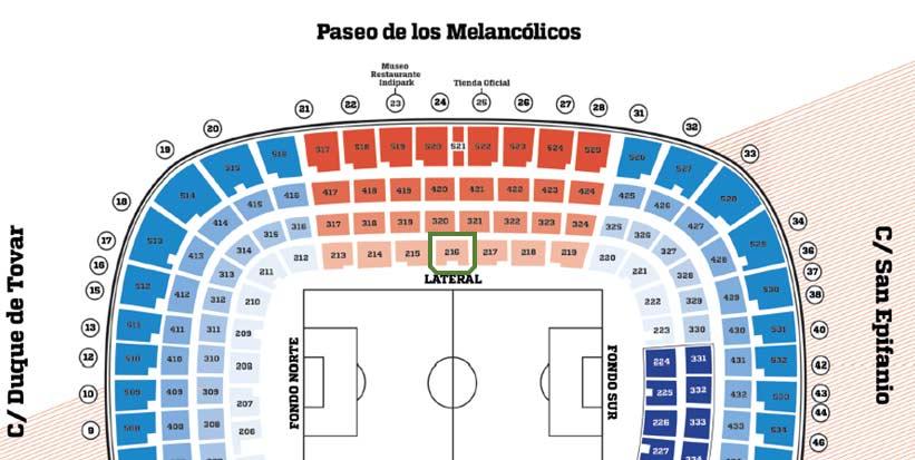 Arenaöversikt Vicente Calderon Madrid