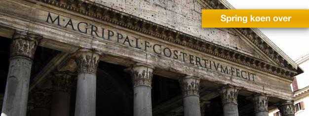 Oplev hele Rom på en dag fra Colosseum, Forum Romanum, Pantheon, Trevi-fontænen til Vatikanet. Børn under 7 er gratis! Bestil billetter online!