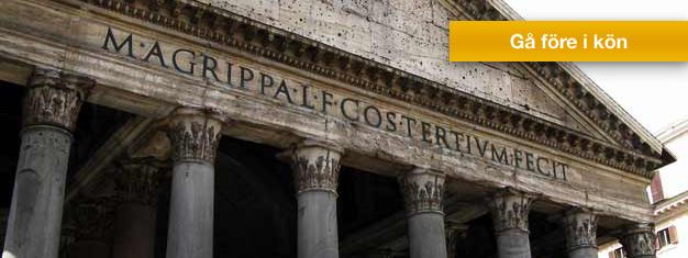 Upplev hela Rom på en dag, från Colosseum, Forum Romanum, Pantheon, Fontana di Trevi till Vatikanen. Barn under 6 år följer med gratis. Boka biljetter på nätet!