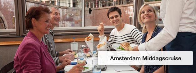 Køb billetter til Amsterdam Middagscruise og nyd en gourmet middag ombord. Bestil billetter til Amsterdam Middagscruise her!