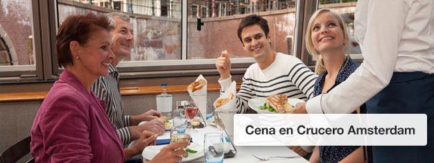 Compra entradas para una Cena en Crucero en Amsterdam y disfruta de una cena de lujo en Amsterdam. Reserva aquí entradas para la Cena en Crucero!