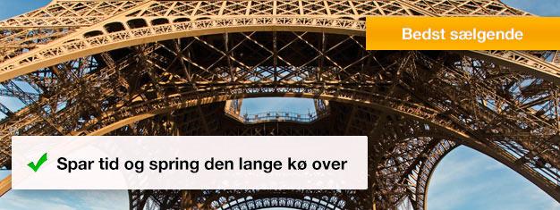 Spring køen over til Eiffeltårnet! Køb dine billetter med spring køen over til Eiffeltårnet hjemmefra og undgå at stå i kø i timevis. Bestil i dag!