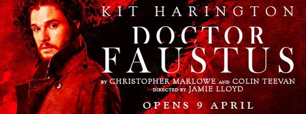 Den legendariske historie om Doctor Faustus er tilbage i London med Kit Harington (Game of Thrones) i hans længeventede retur til scenen i London. Bestil billetter her!
