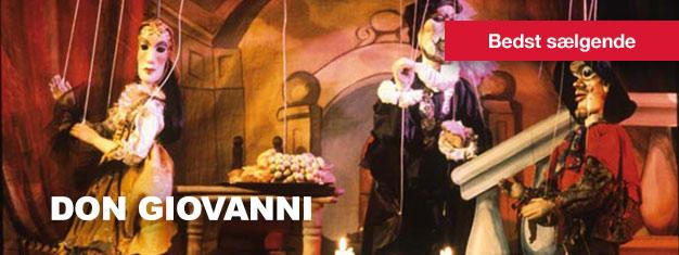 Don Giovanni – Dukketeater i Prag er en ægte Prag specialitet. Køb dine billetter til Don Giovanni Marionetteater i Prag her!