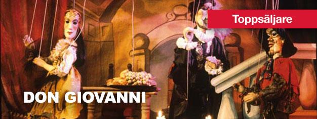 """Don Giovanni - dockteater i Prag är en riktig klassiker och ett """"måste"""" när man är i Prag! Köp biljetter till Don Giovanni på Marionette Theatre i Prag här!"""