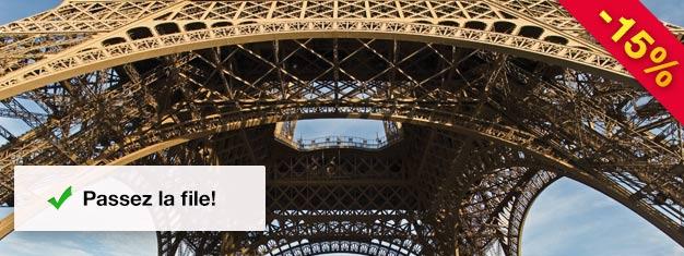 Billets pour 1 heure de visite à Paris ainsi qu'une visite au 2e étage de la Tour Eiffel. Évitez la queue - Réservez vos Billets Prioritaires - Visite de la Tour Eiffel dès maintenant!