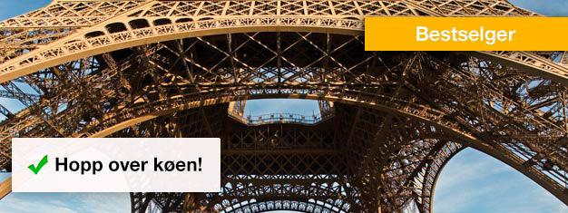 Slippkøen til Eiffeltårnet! Kjøp billetter med fortrinnsretthjemmefraog unngå å stå i kø i timevis. Bestill nå!