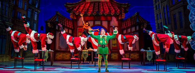 Elf de Musical is een hilarisch verhaal over Buddy die op jonge leeftijd in de zak van de Kerstman klom en mee werd genomen naar de Noordpool. Boek nu!