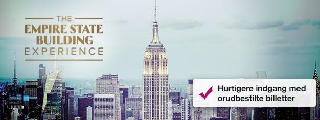 Spring køen over til Empire State Building med forudbestilte billetter! Nyd udsigten over New York! Køb dine billetter til Empire State Building her!