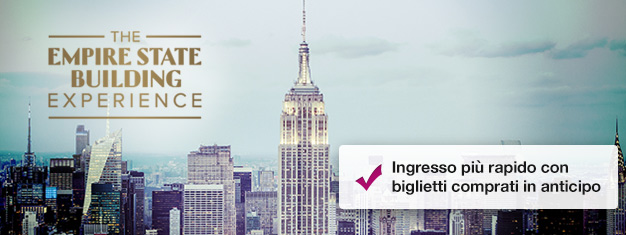 Salta la coda al botteghino dell'Empire State Building acquistando i biglietti online! Goditi la vista, acquista i biglietti per l'Empire State Building qui!