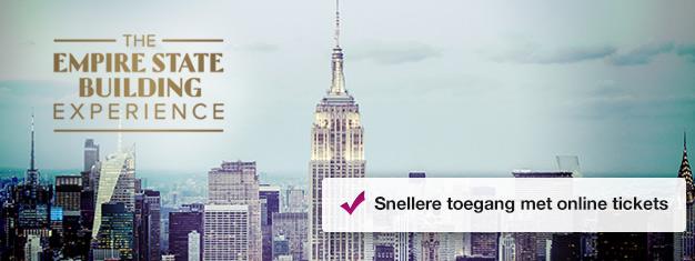 Vermijdt de wachtrij bij het Empire State Building met vooraf geboekte tickets! Geniet van het uitzicht van New York! Koop uw tickets voor het Empire State Building hier!