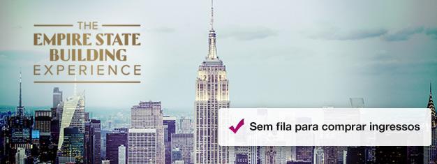 Que tal conhecer Nova Iorque do alto do Empire State Building's Observatory Deck? Reserve seus bilhetes online e não perca tempo na fila da bilheteria para chegar ao topo de forma prática e garantida.