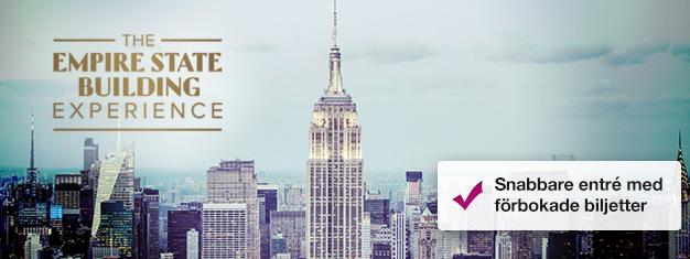 Skippa köerna till Empire State Building med förbokade biljetter! Njut av utsikten över New York och Manhattan! Köp dina biljetter till Empire State Building här!