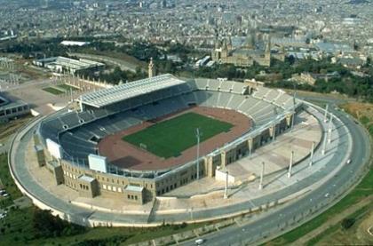 Areena Estadi Olimpic Lluis Companys. BarcelonaJalkapallo.fi