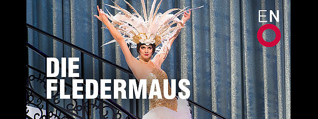 Nyd Johann Strauss' operette Die Fledermaus (Flagermusen) på London Coliseum i London. Bestil billetter til Flagermusen på London Coliseum i London her!