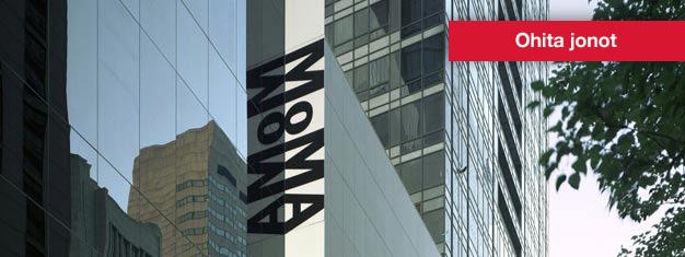 Osta liput modernin taiteen museo MoMaan New Yorkissa netistä, jolloin säästät aikaa sisäänpääsyssä. Alle 17-vuotiaat pääsevät ilmaiseksi. Ääniopastus kuuluu hintaan.