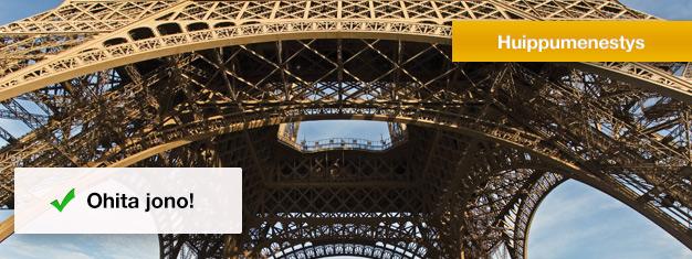 Liput yhden tunnin kiertoajelulle Pariisissa ja käynti Eiffel-tornin kolmannessa kerroksessa. Vältä jonot - varaa lippusi välttääksesi jonottamisen - Pariisin Eiffel-kiertoajelu!