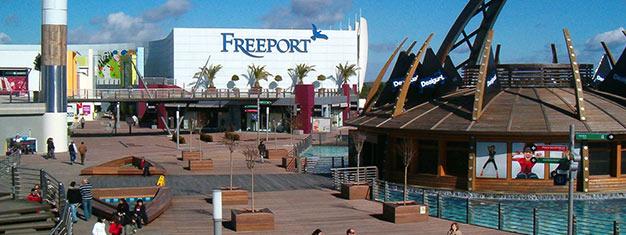 Hyppää sukkulabussin kyytiin ja suuntaa Freeport Outletiin Lissabonin ulkopuolelle! Yli 140 myymälää ja ja paljon tunnettuja brändejä. Varaa nyt!