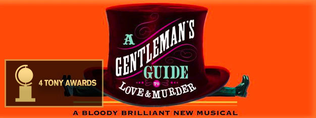 "Erleben Sie die Musicalkomödie A Gentleman's Guide To Love & Murder in New York! Gewinner des Tony Awards 2014 in der Kategorie ""Bestes Musical"". Tickets online buchen!"
