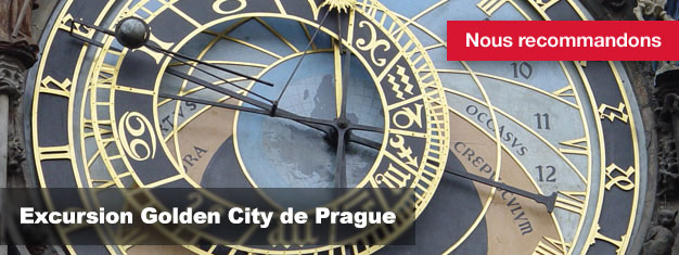 Acheter vos tickets pour l'Excursion Golden City de Prague ici, et découvrez Prague à pied, en bus ou en bateau !