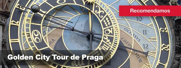 Compre bilhetes para a Golden City Tour de Praga aqui e Conheça toda a cidade de Praga a pé, de autocarro e barco!
