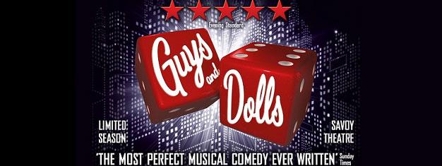 Guys and Dolls, die brodelnde New Yorker Geschichteüber Glücksspieler, Gangster und Nachtklubsänger. Läuft nur für kurze Zeit und nur am Broadway. Tickets buchen!