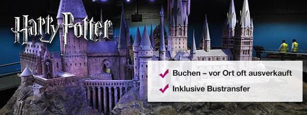 Sehen Sie wo die Harry Potter Filme entstanden,werfen Sie einen Blick hinter die Kulissen des Filmsets und fahren Sie im Hogwarts Express! Tickets online kaufen, Warteschlange am Ticketschalter umgehen!