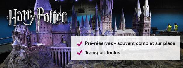 Découvrez comment la Saga  a vu le jour et découvrez le musée et la boutique Harry Potter. Trajet jusqu'aux studios Warner Bros inclus. Pour tous les fans de Poudlard !