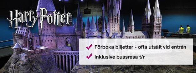 Buss t/r från London till Harry Potter & Warner Bros. Studio Museum. Bakom-kulisserna utställning om hur Harry Potter-filmerna blev till! Familjens favorit!