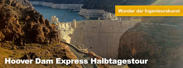 Wenn Sie Las Vegas besuchen, sollten Sie unbedingt den Hoover Dam besichtigen, der auch gerne als eines der 7 von Menschenhand geschaffenen Weltwunder bezeichnet wird. Hier buchen!