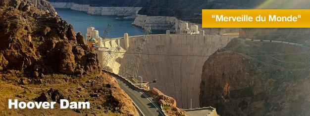 Lorsque vous visitez Las Vegas, vous vous devez d'aller voirle Barrage deHoover Dam. Très souvent considéré comme l'une des sept Merveilles du Monde. Réservez dès maintenant!