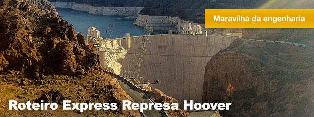 Quando em Vegas, não perca a visita à Represa Hoover - também conhecida como uma das 7 maravilhas do mundo industrial. Reserve aqui!
