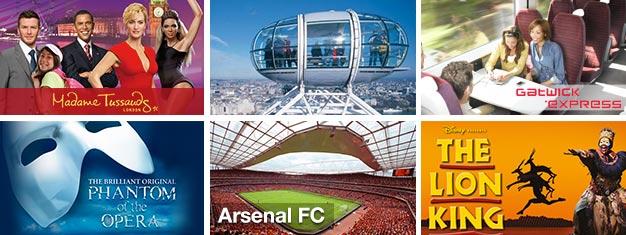 Biglietti a Londra! Spettacoli e musical nel West End, attrazioni e visite guidate, trasferimento in aeroporto e biglietti per le partite dicalcio! Prenota online su Ticmate!