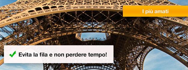 Salta la coda per la Torre Eiffel! Compra i tuoi biglietti salta la coda e evita la coda per ore! Prenota ora!