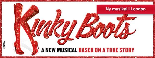 Broadwaymusikalen Kinky Boots tar ditt hjärta med storm och höga klackar! Med låtar av popikonen Cyndi Lauper! NU i London West End, köp biljetter på nätet!