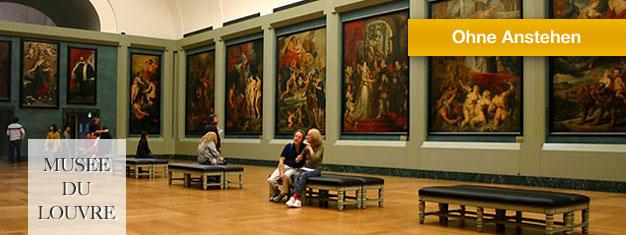 Das Louvre Museum ist ein absoluter Pflichttermin auf Ihrem Besuch in Paris. Buchen Sie eine Führung und umgehen Sie die Warteschlangen davor! Online buchen!