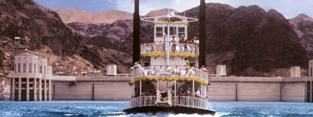 Experience the Hoover Dam and Lake Mead. This tour includes a helicopter ride taking you around the Hoover Dam and Lake Mead area for some amazing views!