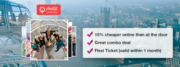 Save 15% with this combo deal with a spin on the London Eye followed by a 40 minute, guided London Eye River Cruise! Book today!