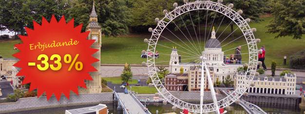 Biljetter till Legoland Windsor Resort utanför London. 55 karuseller, attraktioner, utställningar och LEGO ® Star Wars ™. Boka biljett till Legoland Windsor!