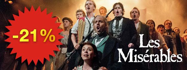 Les Miserables er en must-see musical med smuk musik! Oplev den prisvindende musical på Broadway i New York. Bestil dine billetter på forhånd!