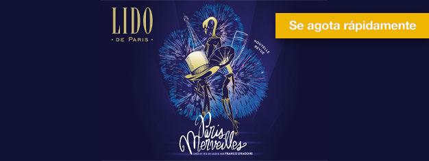 Asegura tus entradas para el Lido de París en Avenue des Champs-Elysées en París. Los viernes y sábados se agotan rápidamente para este espectáculo!
