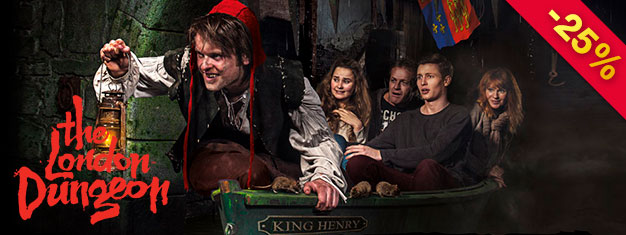 Save 40% on your entrance to London Dungeon! The offer is only available here and until December 20th, 2017! With prebooked tickets you save money and time.