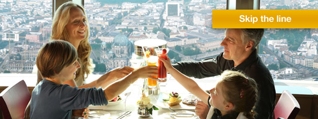 "Book you lunch at restaurant ""Sphere"" at the top of Berlins famous TV Tower, and get VIP treatment. Book you lunch at Berlin TV Tower here!"