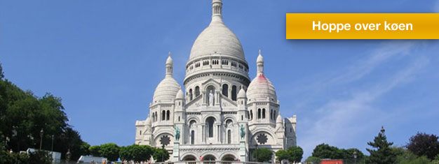 Nyt en guidet tur til Montmartre, Place du Tertre, Sacré Coeur og Louvre. Bestille billetter på nettet og slipp de lange køene til Louvre!