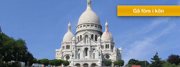 Biljetter till en guidad tur på Montmartre med Place du Tertre och Sacre Coeur samt i Louvre Museum i Paris. Boka biljetter till denna tur i Paris här!