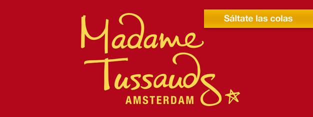 Visita el mundialmente famoso Madame Tussauds de Amsterdam y acércate a tus estrellas favoritas. Reserva aquí para Madame Tussauds Amsterdam!