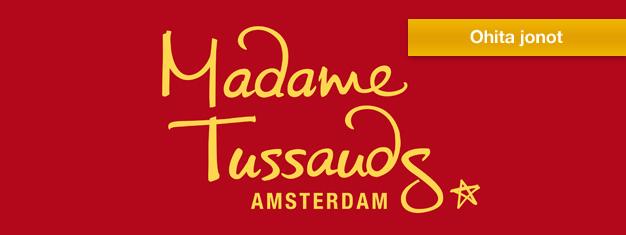Vieraile Madame Tussaudsin maailmassa Amsterdamissa ja pääse suosikki tähtiesi kanssa samaan kuvaan. Varaa lippusi Amsterdamin Madame Tussaudsiin täältä!